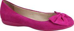#Sapatilha pink com laço