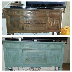 1000 images about chalk paint before and after on for Annie sloan chalk paint kitchen cabinets before and after