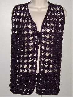 Purple glitter retro waistcoat vest ref 482 £18.00