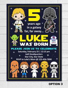 Star Wars Invitation Pinterest Star wars invitations Star wars
