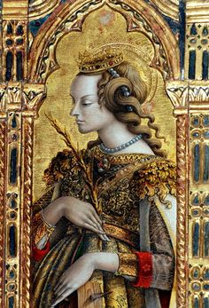 Carlo Crivelli (Italian artist, c 1430-1495) Santa Caterina d'Alessandria