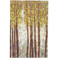 Pier One Birch Trees Wall Art - Blue ($40) ❤ liked on Polyvore