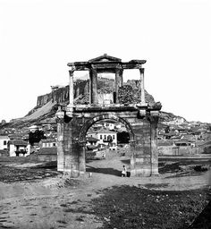 ~ Hadrian's Arch in Athens: Attica Athens, Athens Acropolis, Athens Greece, Greece Pictures, Old Pictures, Old Photos, Athens History, Greek History, Greek Independence