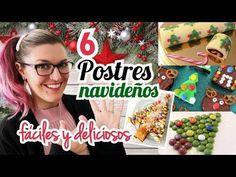 6 POSTRES NAVIDEÑOS *Fáciles y Rápidos* - YouTube Sin Gluten, Sweet Dreams, Cake Pops, Youtube, Christmas, Cakes, Videos, Food, Diy And Crafts