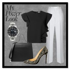 """""""My Power Look 031"""" by chinkie28 ❤ liked on Polyvore featuring AlexaChung, MSGM, Victoria Beckham, Christian Louboutin and Rolex"""