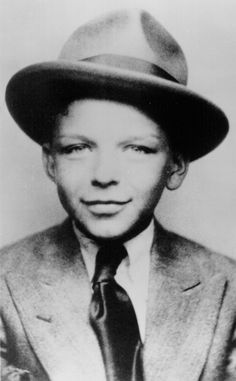 Frank Sinatra, probably a punk, before he became involved with the Mob that supported his early singing career.