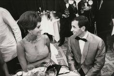 Sophia Loren and Charles Aznavour. 1961
