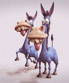 Funny donkey character design and illustration www.deviantom.com Twitter: @Deviatom Instagram: @tomajestic★ Find more at http://www.pinterest.com/competing/