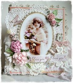 Shabby Book Card (Live & Love Crafts' Inspiration and Challenge Blog)
