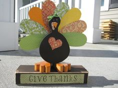 DIY Wooden Turkey Pattern