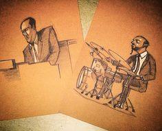 #schetch #hammondgrooves #organtrio por @fabiopcorazza #hammondb3 #bateria #drums #drummer #organplayer #draw #desenho #musica #show #vida #musiclife #illustrated #ilustracion #disenho #arte #musicaboa #jazz #groove