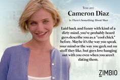 My Rom-Com soulmate is Cameron Diaz in 'There's Something About Mary'! What about you?
