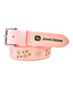 Another great find on #zulily! John Deere Pink Floral 'John Deere' Belt by John Deere #zulilyfinds