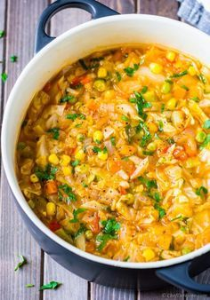 An easy and clean vegetarian cabbage soup recipe made with fresh cabbage, tomatoes, mixed vegetable medley, oregano, and vegetable broth. This cabbage soup is one of the best diet soup ever because...