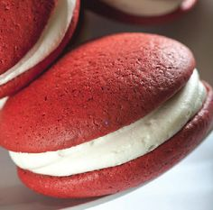 Red Velvet Whoopie Pies with Cream Cheese Filling