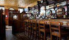Irish Pub McConville's, Portadown. Lovely tile detail to this floor & bar front!!