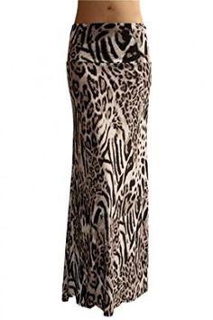- Polyester, Spandex Blend - Full Length Banded Waist Foldover - Made in USA - Stylish Animal - Measurements before stretch Waist Hip Length Small Medium Large X-La Leopard Maxi Skirts, Maxi Skirt Outfits, Leopard Print Skirt, Long Maxi Skirts, Blouse And Skirt, White Skirts, Long Skirt Fashion, Next Fashion, Women's Fashion