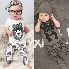 TANGUOANT New 2017 summer style Cotton little monsters short sleeve infant clothes 2 pcs baby clothing sets baby boy clothes - Kid Shop Global - Kids & Baby Shop Online - baby & kids clothing, toys for baby & kid Baby Outfits, Kids Outfits, Summer Outfits, Baby Set, Pants Outfit, Outfit Sets, Pyjamas, Baby Shop Online, Baby Boy Fashion