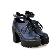 new 2015 round toe women boots winter shoes platform punk ankle boots for women size34-39(China (Mainland))