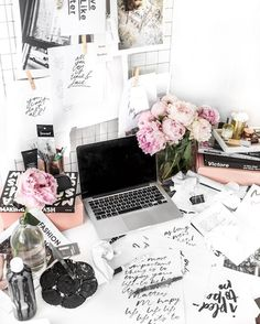 Just Add Peonies.. Desk by Jasmine Dowling
