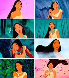 My favorite pic of her is in the bottom left corner of this picture Pocahontas Pictures, Disney Pocahontas, Disney Couples, Disney Pictures, Disney Princesses, Disney Shows, Disney Films, Disney And Dreamworks, Disney Pixar
