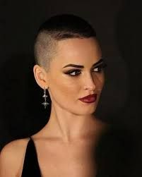 Image result for rose gold pixie cut