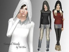 Tomgirl Hoody sweater with long sleeves by Ms Blue - Sims 3 Downloads CC Caboodle