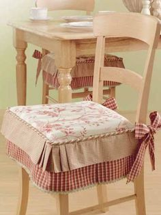 Dining Room Seat Cushion Covers Luxury Dining Chairs Cushions with Ties with Images Window Seat Cushions, Dining Room Chair Cushions, Slipcovers For Chairs, Dining Chairs, Desk Chairs, Side Chairs, Dining Table, Patterned Chair, Sewing Pillows