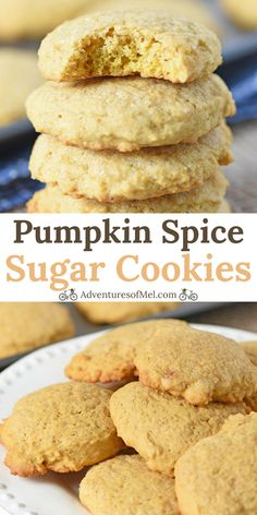 Mix up a batch of soft pumpkin sugar cookies from scratch, a deliciously easy recipe, perfect for a fall, Halloween, or Thanksgiving treat. #pumpkincookies #pumpkinsugarcookies #sugarcookies #cookies #desserts #dessertlovers #fallrecipes #Halloween #Thanksgiving #falltreats #recipes #easyrecipes #fromscratch #homemade #deliciousfood #softcookies #cookierecipes #pumpkinspice #pumpkinrecipes #food