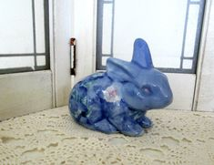 Blue and White Bunny Rabbit Vintage Easter by WeeLambieVintage