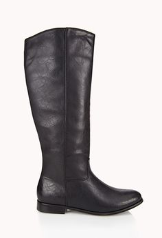 Staple Faux Leather Boots | FOREVER21 - 2078766370