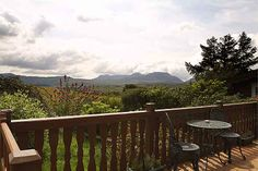 View from Mountain View log cabin    http://cadairviewlodge.co.uk/Mountain%20View%20Log%20Cabin.htm