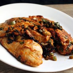 The Stay At Home Chef: Spicy Marinated Grilled Tilapia