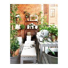FALSTER Penkki IKEA Styreenimuovista valmistetut säleet ovat säänkestävät ja helppohoitoiset. Tukeva ja kevyt. Runko ruostumatonta alumiinia...
