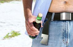 Bottle Opener Belt  This stylish bottle opening belt is a great conversation  starter