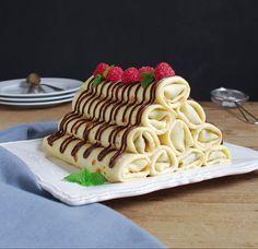Crepes de chocolate y frambuesa