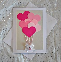 Easy and creative DIY Valentine card ideas to make at home.Valentine day cards for kids, last minute diy cards for valentine. Valentines Day Cards Handmade, Unique Birthday Cards, Valentine Day Crafts, Valentine's Day Handmade Cards, Valentine Cards For Friends, Handmade Cards For Friends, Homemade Valentine Cards, Valentines Hearts, Cute Valentines Day Gifts