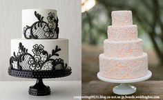 Lacey Wedding Cake Designs