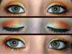 gryffindor make up!!!!! omg wanna dress up as someone from harry potter just so i can do this :P