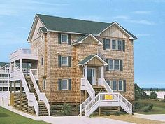 VRBO.com #876360 - Isle Be Breezy: 7 BR Soundside Home in Salvo with Private…