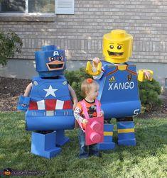 Lego Men Costumes - Halloween Costume  #legominifigure #legocostume #halloween #legohalloween #halloweencostume http://www.Adopt-A-Brick.com/