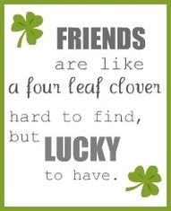 I'm looking over a 4 leaf clover.