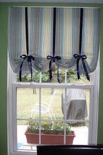 no sew kitchen curtains by ellebeeTee Originals