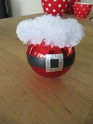 Cute easy to make Santa ornament.  Must remember next year.
