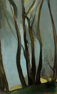 Amrita Sher-Gil (Ind, 1913 - Tree, oil on Canvas, 61 x 38 cm Amrita Sher Gil, Women Artist, Southeast Asian Arts, Art Cart, Art Plastique, Tree Art, Indian Art, Artist At Work, Landscape Paintings