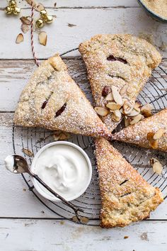 Loaded Chocolate Hazelnut Liquor Turnovers with Salted Vanilla Bean Whipped Cream | halfbakedharvest.com