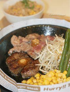 Cut Steak and Burger at Pepper Lunch