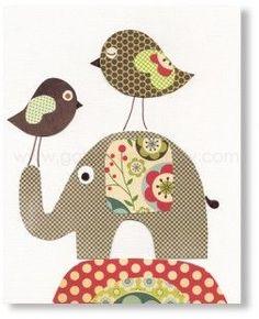 Illustration pour chambre d'enfant fille et garcon decoration Papier  : Sacs enfants par galerie-anais