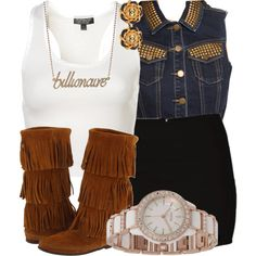 A fashion look from September 2012 featuring Topshop tops, Forever 21 vests and Volcom mini skirts. Browse and shop related looks.