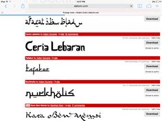 Arabic Look Fonts